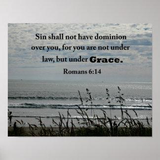 El pecado del 6:14 de los romanos no tendrá póster