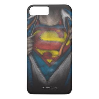 El pecho del superhombre el   revela el bosquejo funda para iPhone 8 plus/7 plus
