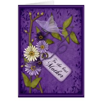 El pedazo florece día de madres tarjeta de felicitación