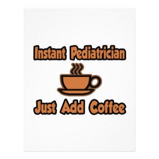El pediatra inmediato… apenas añade el café tarjeta publicitaria