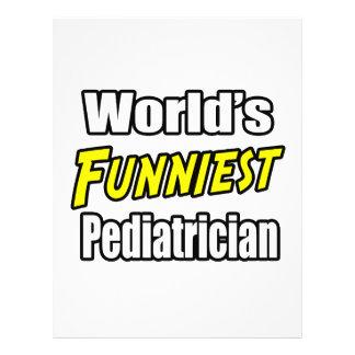 El pediatra más divertido del mundo flyer personalizado