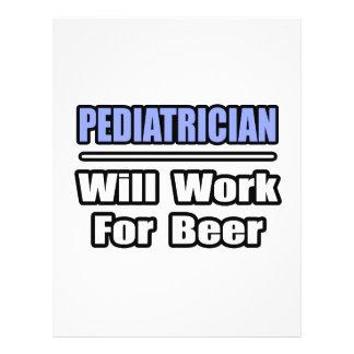 El pediatra… trabajará para la cerveza tarjetas informativas