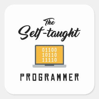El pegatina autodidacta del programador