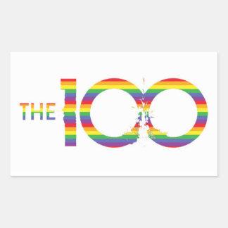 El pegatina de 100 LGBT
