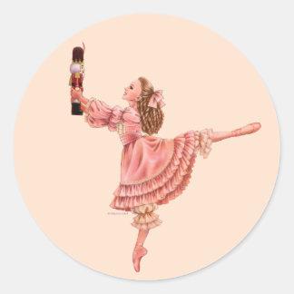 El pegatina del ballet del cascanueces
