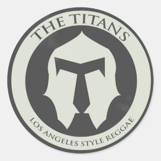 El pegatina del logotipo de los titanes