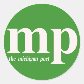 El pegatina del poeta de Michigan