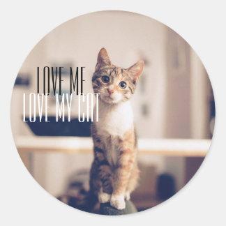 EL PEGATINA LINDO DEL CAT ME AMA AMOR MI CAT