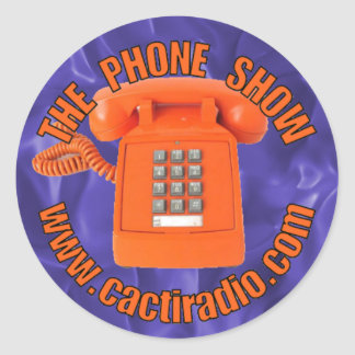El pegatina redondo de cactiradio.com de la pegatina redonda