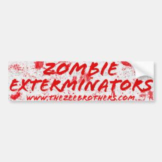 El pegatina sangriento blanco de los Exterminators Pegatina Para Coche