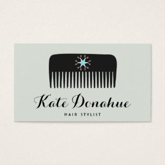 El peine del Hairstylist Scissors el salón de pelo Tarjeta De Visita