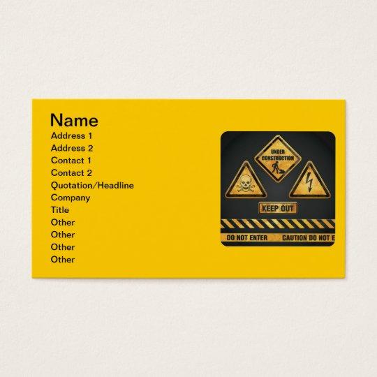 El peligro firma (7) garcya tarjeta de negocios