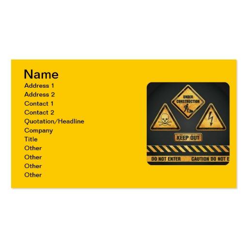 El peligro firma (7) garcya tarjetas de visita