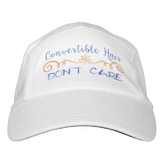 El pelo convertible no cuida gorra de alto rendimiento