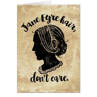El pelo de Jane Eyre no cuida Tarjeta