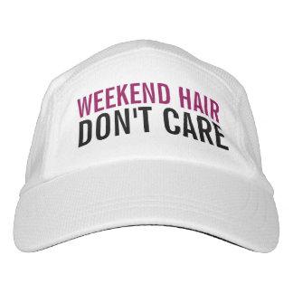 El pelo del fin de semana no cuida a mujeres gorra de alto rendimiento