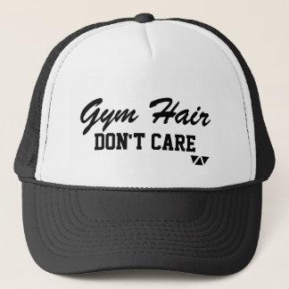 El pelo del gimnasio, no cuida el gorra del