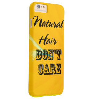 El pelo natural no cuida el caso funda barely there iPhone 6 plus