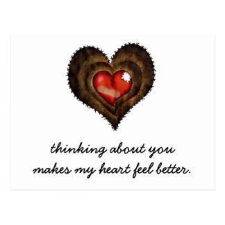El pensamiento en usted hace mi sensación del postal