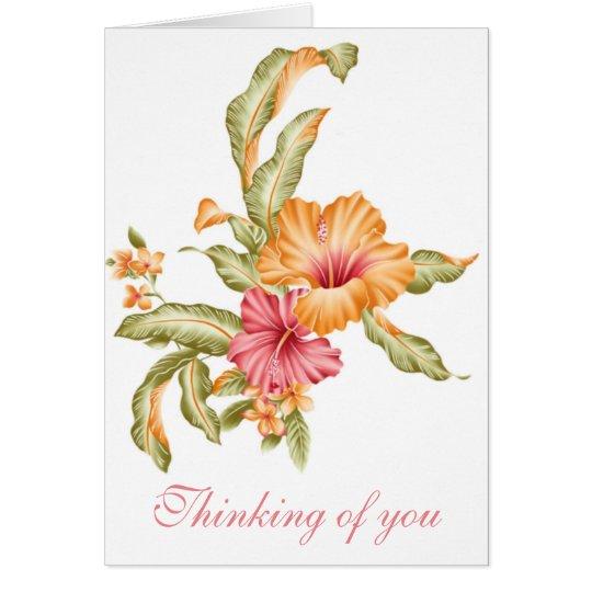 El pensamiento floral en usted carda tarjeta de felicitación