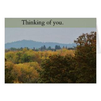 El pensamiento pacífico en usted (en blanco) carda tarjeta de felicitación