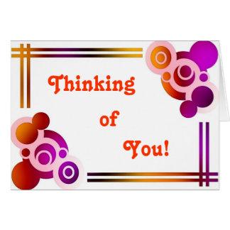El pensamiento retro en usted carda tarjetas