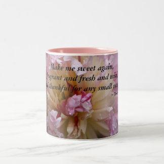 El Peony rosado… me hace el dulce otra vez Taza De Café De Dos Colores