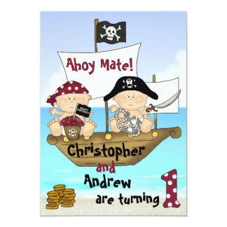 El pequeño 1r pirata del cumpleaños de Bucanero de Invitación 12,7 X 17,8 Cm