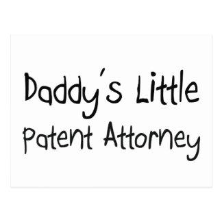 El pequeño abogado de patentes del papá tarjetas postales