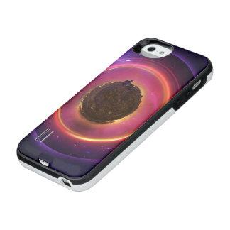 El pequeño astronauta en un planeta minúsculo del funda con batería para iPhone SE/5/5s