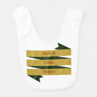 El pequeño ayudante de Santa - babero del bebé