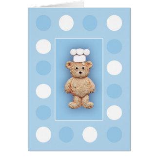 El pequeño cocinero tarjeta de felicitación