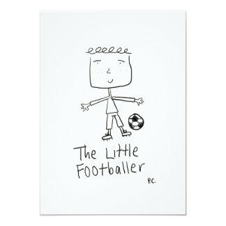 El pequeño futbolista invita invitación 12,7 x 17,8 cm