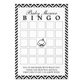 El pequeño hombre Chevron raya tarjetas del bingo  Anuncios Personalizados