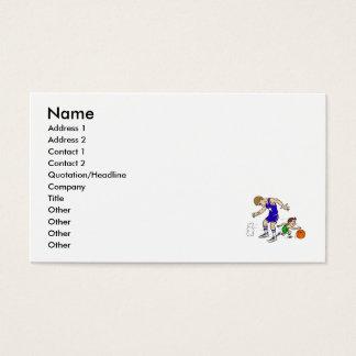 El pequeño jugador consigue a continuación tarjeta de negocios