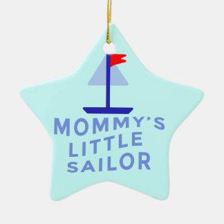 El pequeño marinero de la mamá adorno de cerámica en forma de estrella