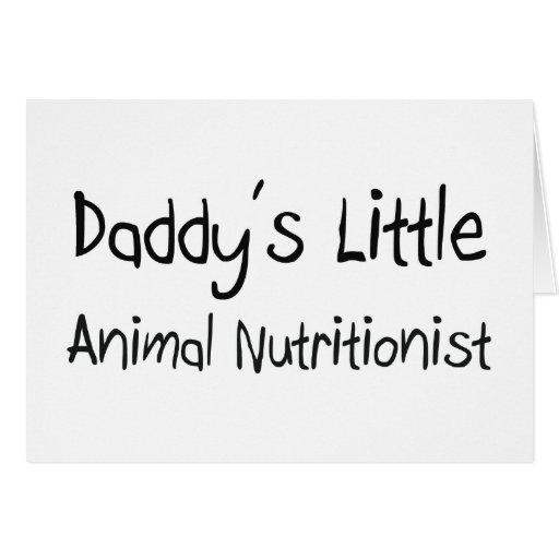 El pequeño nutricionista animal del papá felicitación