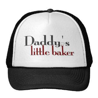 El pequeño panadero del papá gorros bordados