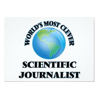 El periodista científico más listo del mundo invitación 12,7 x 17,8 cm