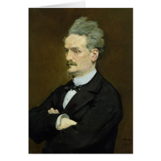 El periodista Enrique Rochefort, 1881 Tarjeta De Felicitación