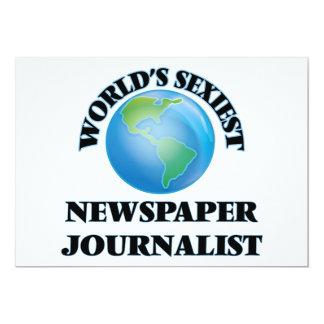 El periodista más atractivo del periódico del invitación 12,7 x 17,8 cm
