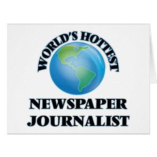 El periodista más caliente del periódico del mundo tarjetas