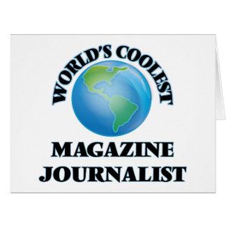 El periodista más fresco de la revista del mundo tarjeta de felicitación grande