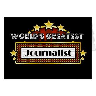 El periodista más grande del mundo tarjeta