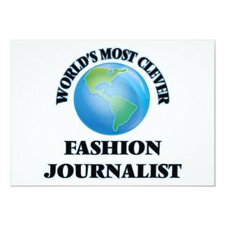 El periodista más listo de la moda del mundo invitación 12,7 x 17,8 cm