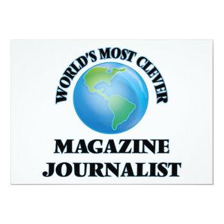 El periodista más listo de la revista del mundo invitación 12,7 x 17,8 cm