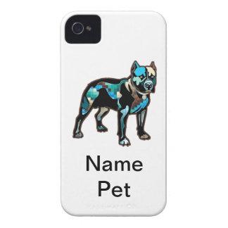 El perro casero del diseño del extracto del pitbul iPhone 4 Case-Mate carcasas