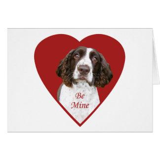 El perro de aguas de saltador inglés sea tarjeta