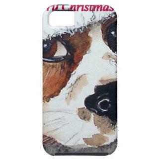 El perro del navidad carda cocker spaniel funda para iPhone SE/5/5s