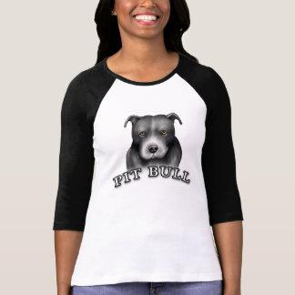 El perro del pitbull crea la camisa de las señoras